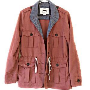 Obey Propaganda Hemingway Brown Cargo Coat Jacket